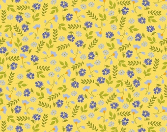 RILEY BLAKE Designs Meadow Floral Yellow Meadow Sweets C5651-YELLOW by Jill Finley