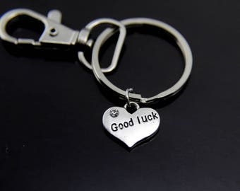 Good Luck Charm Keychain Good Luck Charm Good Luck Jewelry Good Luck Gift Lucky Jewelry Heart Charm keychain Personalized Keychain