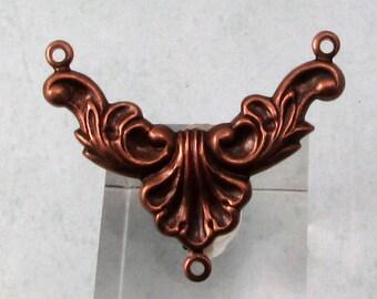 Rococo Y Connector, Antique Copper,  2 Pc. AC190