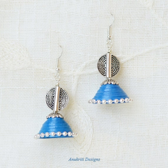 Jhumka paper earrings indian jewelry quilled earrings jhumka paper earrings indian jewelry quilled earrings paper quilling jewelry indian chandelier earrings blue jhumka earrings aloadofball Choice Image