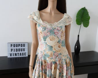 vintage floral LANZ Originals dress size 40 - uk 12 - us 8