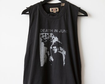 Death in June DIY Homemade T-shirt Industrial Neo-Folk Music Band 80s 90s