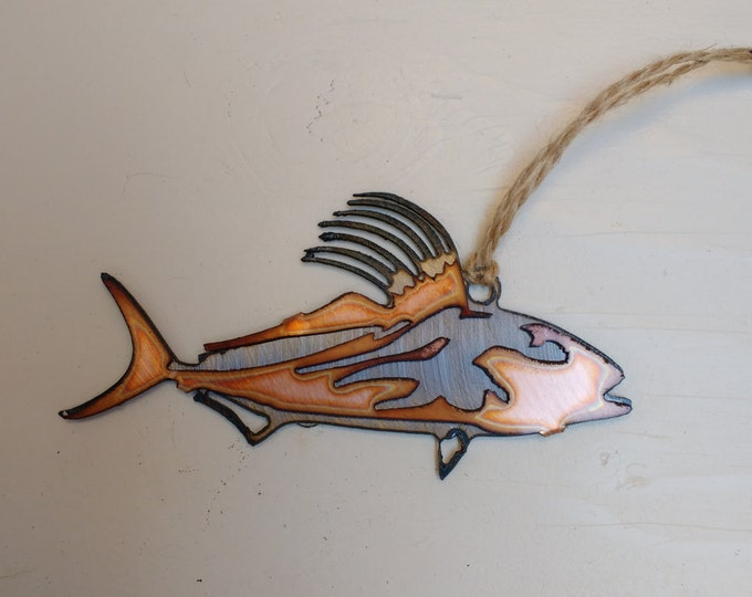 Rooster Fish: Steel and Copper