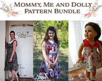 "Free 18"" Dolly PDF with Mommy & Me Pattern Bundle ~"