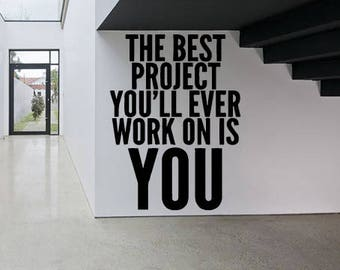 Wall Sticker Decal Motivation quote don't stop gym training crossfit fitness 1687b