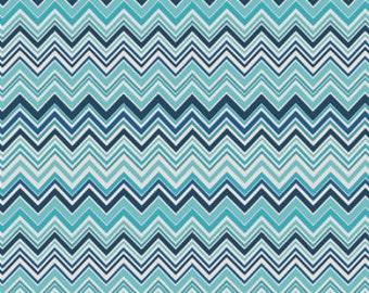 Fabric by the Yard -- Novella Zig Zag in Indigo by Valori Wells - 1 yard