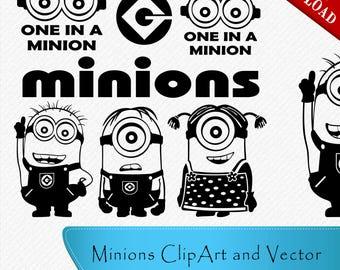 Minions SVG, Minion svg, Minion Silhouette, Minion cricut file, minions clipart, Minion cutting file, Minion silhouette, svg, dxf, eps, png