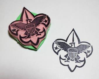 Boy Scout Logo Stamp
