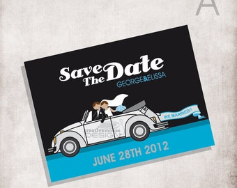 Save the date or Rsvp vw / Wedding vw / FILE ONLY