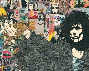 Sandman (Morpheus) Comic Collage - giclee print