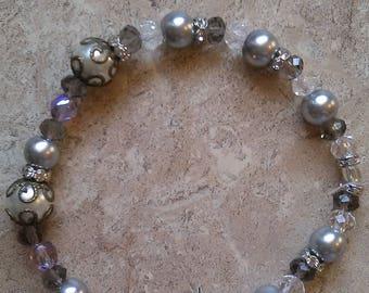 Princess Bracelet, Gray Pearl