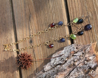 colorful stone necklace