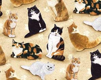 Feline Fine 1890-291 Cats on Beige
