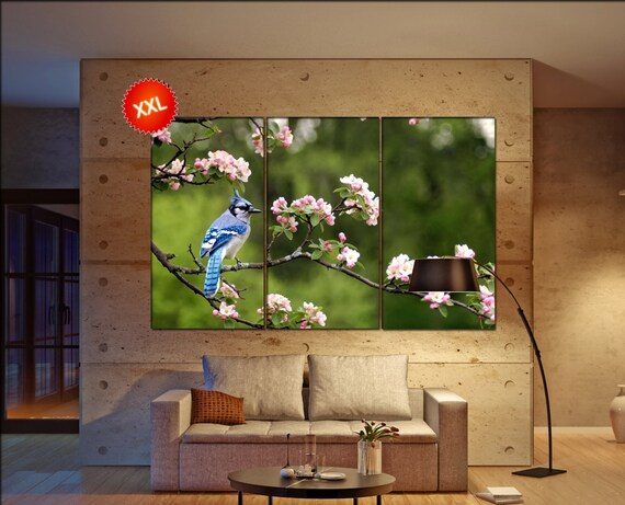 bluejay  canvas wall art bluejay wall decoration bluejay canvas wall art art bluejay large canvas wall art  wall decor