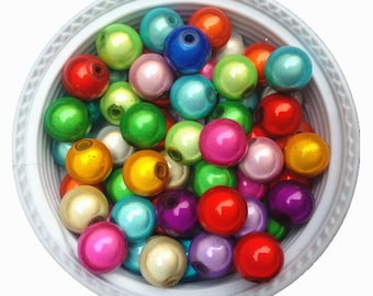 Lot 10 bead 10 mm mixed Miracle magical Creation jewelry fish eye effect