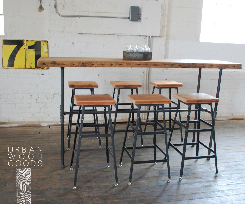 Elegant Tall Narrow Bar Table