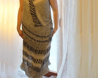 Linen women dress / linen clothing / tunic / vest / Three models in one dress DT5