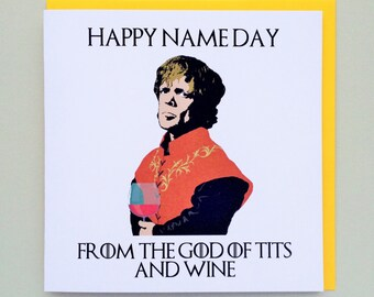 Game of Thrones Tyrion Lannister Wine Birthday Card