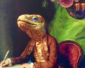 Inspiration Iguana Postcard