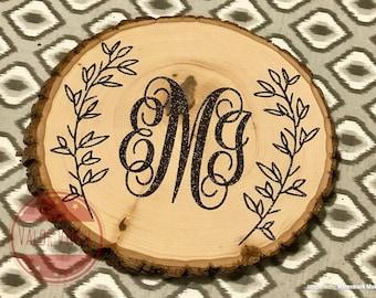Personalized Tree Stump Slice