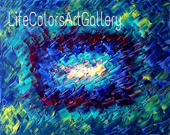 "Acrylic painting original  abstract wall art canvas art modern art done using palette knife 20""x16"""