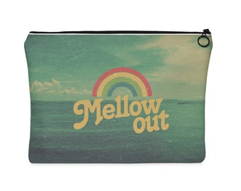 Retro Mellow Out Carry All Pouch  Flat