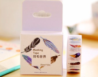 Feather Washi Tape Masking Tape Planner Stickers Scrapbooking Stickers