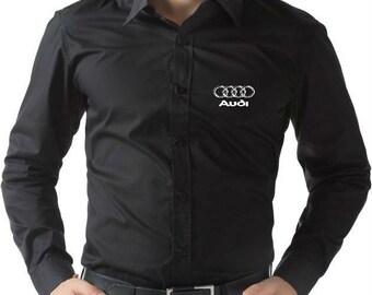 Audi logo men's Dress Shirt more colors and sizes Free Shipping