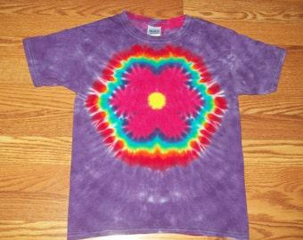 Tie Dye Flower- S M L Xl 2x 3x 4x 5x 6x- Rainbow Flower Tie Dye,  Kids Adult Plus size