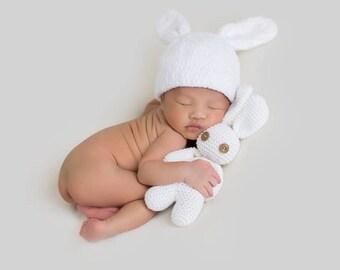 Newborn Hat Boy, Newborn Hat Girl, Newborn Bunny Hat, Baby Hat Boy, Baby Bunny Hat, Bunny Toys, Rabbit Toys, Baby Photo Prop, Baby Bunny