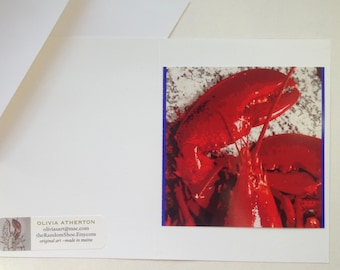 Greeting Cards Handmade - Maine Lobster Red Claw - Greeting Card - Original Photo