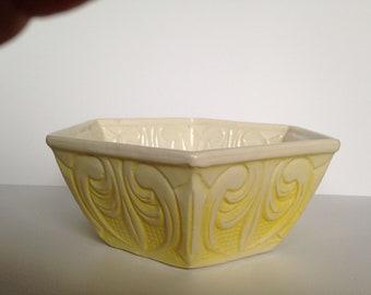 Vintage California USA #1306 Hexagon Pottery Bowl
