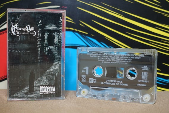 III - Temples Of Boom by Cypress HillVintage Cassette Tape