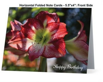 Happy Birthday, Card, Folded Horizontal Note Cards, Photo Note Cards, Wildflower Photo Note Card, Floral Card, Stationary