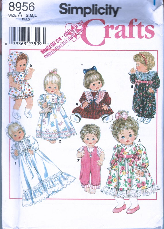 Doll Clothing Sewing Pattern - Doll Christening Dress Pattern - Doll ...