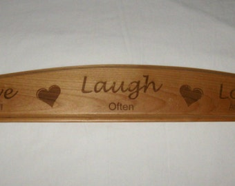 Personalized Solid Wood Door Topper Plaque With Arched Top