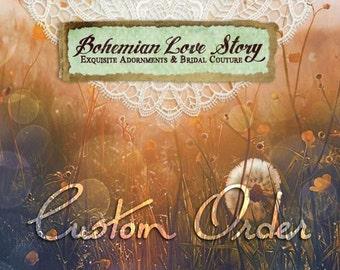 Couture Headdress Vesta Range - Bohemian Love Story Accessories, Hair Adornment , Headband