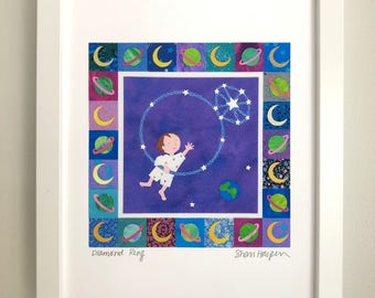 Diamond Ring nursery print from Hush, Little Baby illustrated by Shari Halpern