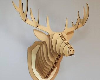 Trophy deer in Woods 60 cm head