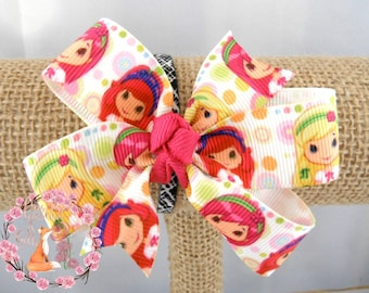 Strawberry Shortcake Inspired Hair Bow