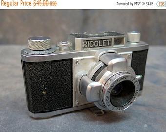 BTS Ricoh Ricolet 35mm Film Camera with Riken Ricoh 45mm f/3.5 Lens