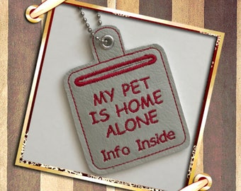 Pet Home Alone, Pets, keychain pets, animal saver, animal lovers gift