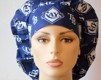Scrub Hats Tampa Bay Rays Bouffant Surgical Scrub Hats Tampa Florida Support Your Team