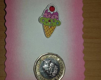 Ice cream cone badge