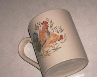 Vintage Corelle CHICKEN ROOSTER Mug Corelle Collectible Microwave Mug Dishwasher Safe Mug Coffee Mug 11oz. Mug Corelle Mug Country Hen Mug