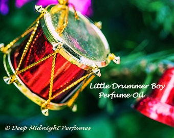 Little Drummer Boy Perfume Oil - Rich Myrrh, Arabian Sandalwood, Frankincense, Cedar, Amber, Pomegranate - Christmas Perfume - Holiday Scent