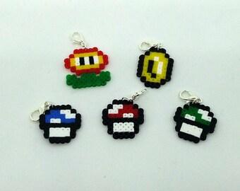 Mario Inspired Hama Bead Characters