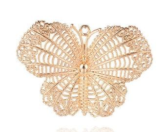 x 1 pendant Golden Butterfly print.