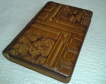 Notebook Diary Journal - Leather Handmade Blank Bookmark #23