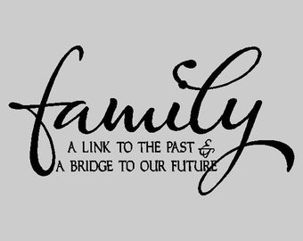 Family a link to the past...Family Vinyl Wall Lettering Words Sayings Removable Home Wall Decal Quotes FA033